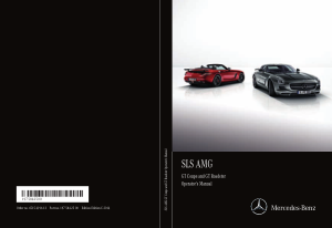 2015 Mercedes Benz SLS Operator Manual